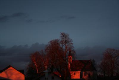 Kreuzberg in Haardorf bei Nacht