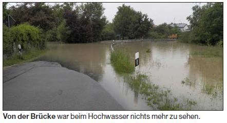 Brücke Hochwasser